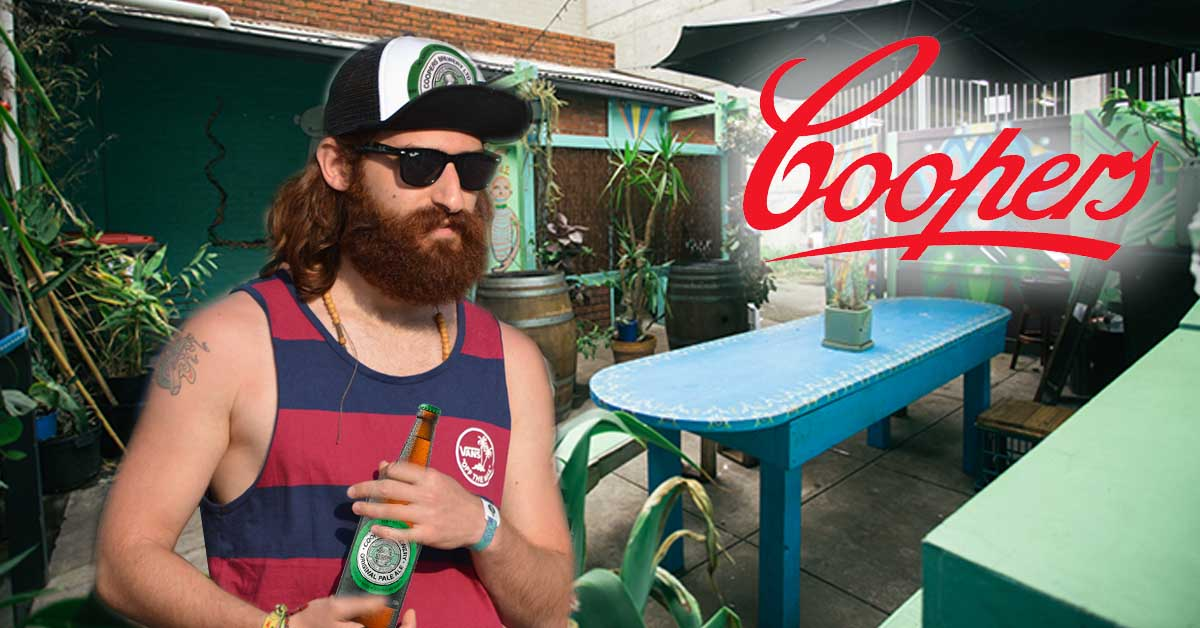 Man who said he'd never drink Coopers again