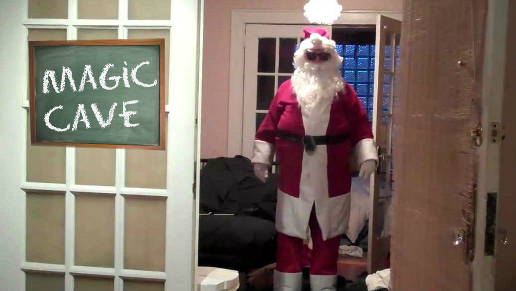 Father Christmas in the new Magic Cave