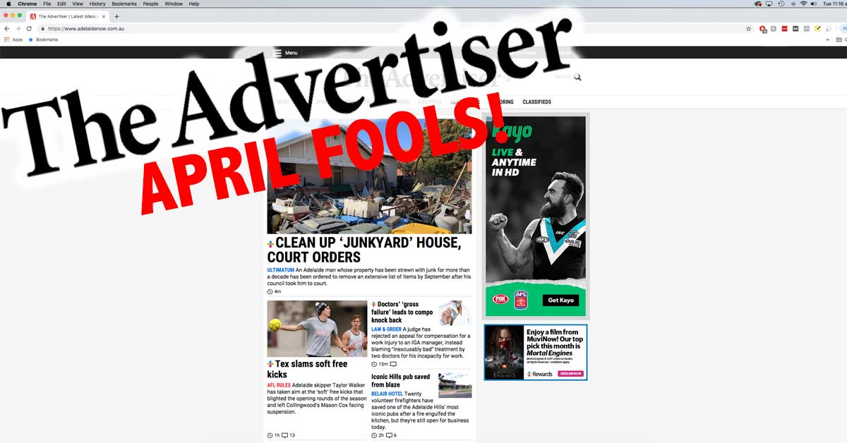 Advertiser's April Fool's Joke