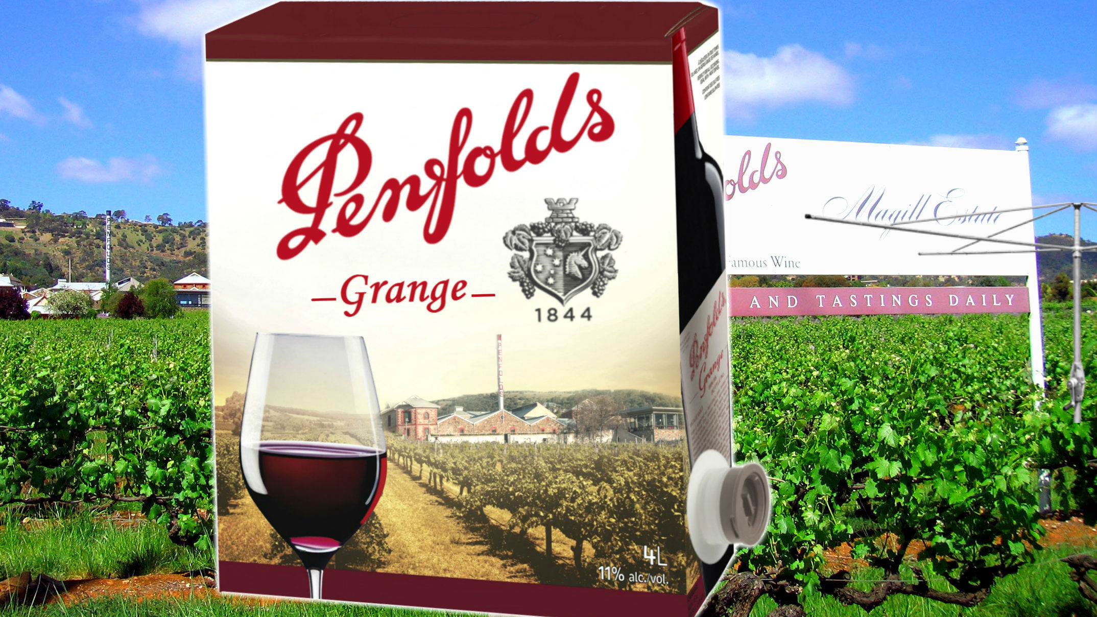 penfolds grange cask wine